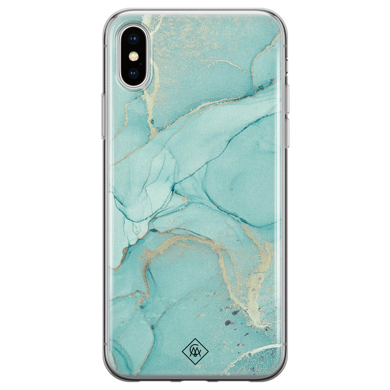 Casimoda iPhone XS Max siliconen hoesje - Touch of mint