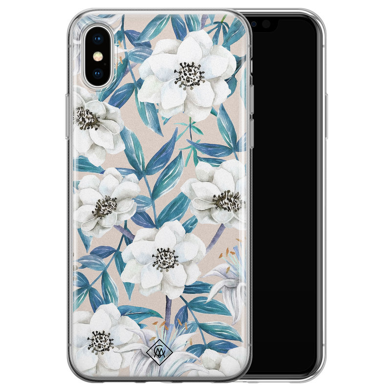 Casimoda iPhone XS Max siliconen hoesje - Touch of flowers