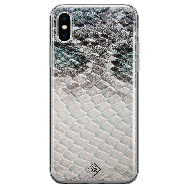Casimoda iPhone XS Max siliconen hoesje - Oh my snake