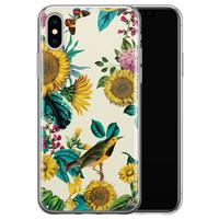 Casimoda iPhone XS Max siliconen hoesje - Sunflowers