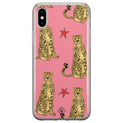 Casimoda iPhone XS Max siliconen hoesje - The pink leopard