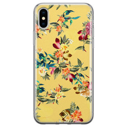 Casimoda iPhone XS Max siliconen hoesje - Floral days
