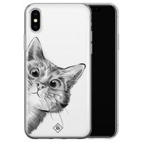 Casimoda iPhone XS Max siliconen hoesje - Peekaboo