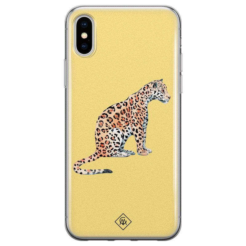 Casimoda iPhone XS Max siliconen hoesje - Leo wild
