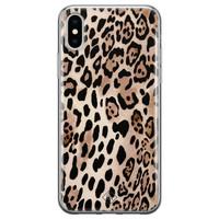 Casimoda iPhone XS Max siliconen hoesje - Golden wildcat
