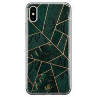 Casimoda iPhone XS Max siliconen hoesje - Abstract groen