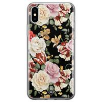 Casimoda iPhone XS Max siliconen hoesje - Flowerpower