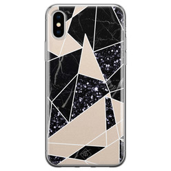 Casimoda iPhone XS Max siliconen hoesje - Abstract painted