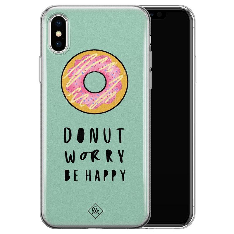 Casimoda iPhone XS Max siliconen hoesje - Donut worry
