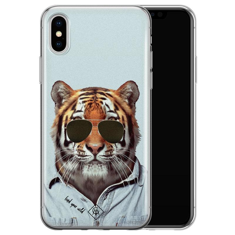 Casimoda iPhone XS Max siliconen hoesje - Tijger wild