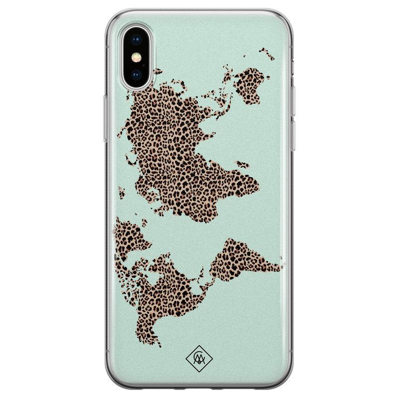 Casimoda iPhone XS Max siliconen hoesje - Wild world