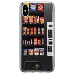 Casimoda iPhone XS Max siliconen hoesje - Snoepautomaat