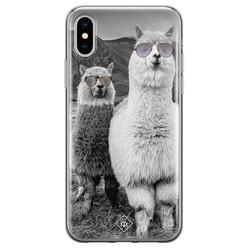 Casimoda iPhone XS Max siliconen hoesje - Llama hipster