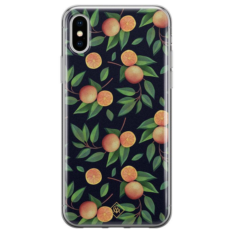 Casimoda iPhone XS Max siliconen hoesje - Orange lemonade