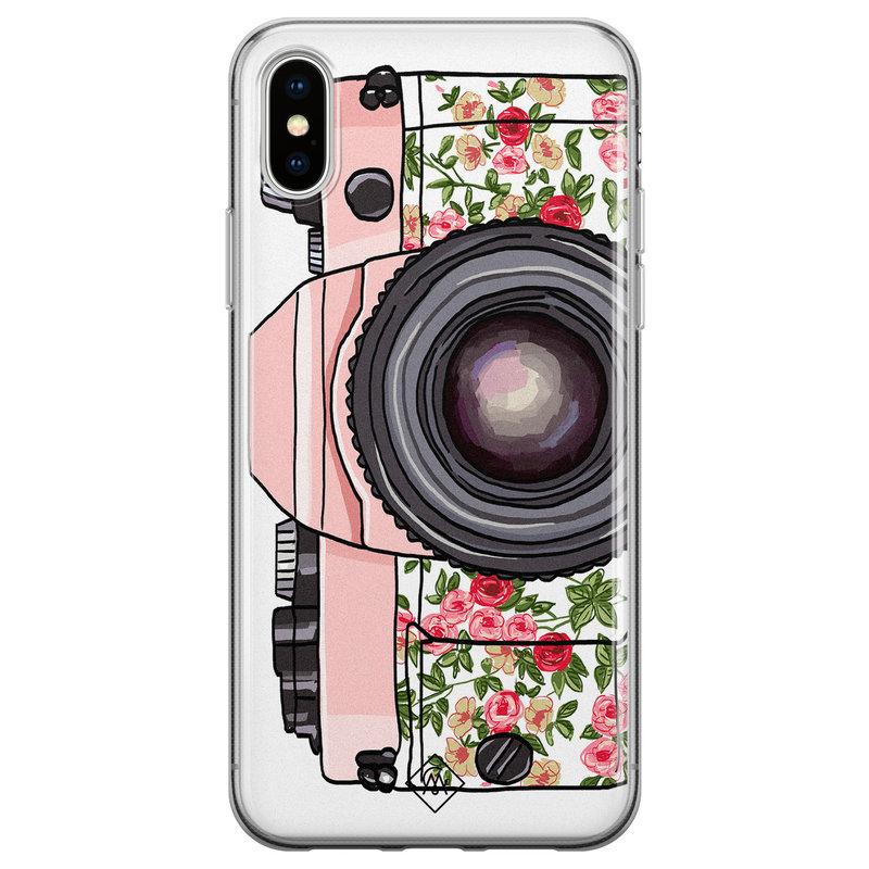 Casimoda iPhone XS Max siliconen hoesje - Hippie camera