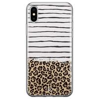 Casimoda iPhone XS Max siliconen hoesje - Leopard lines