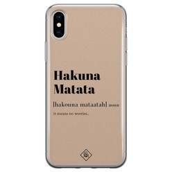 Casimoda iPhone XS Max siliconen hoesje - Hakuna matata