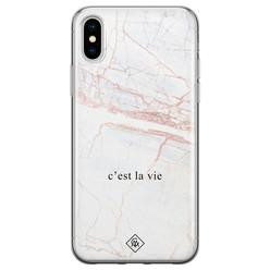 Casimoda iPhone XS Max siliconen hoesje - C'est la vie