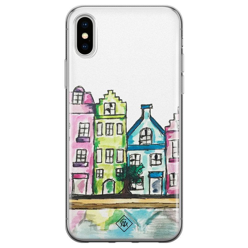 Casimoda iPhone XS Max siliconen hoesje - Amsterdam