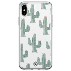Casimoda iPhone XS Max siliconen hoesje - Cactus print