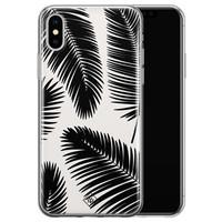 Casimoda iPhone XS Max siliconen hoesje - Palm leaves silhouette