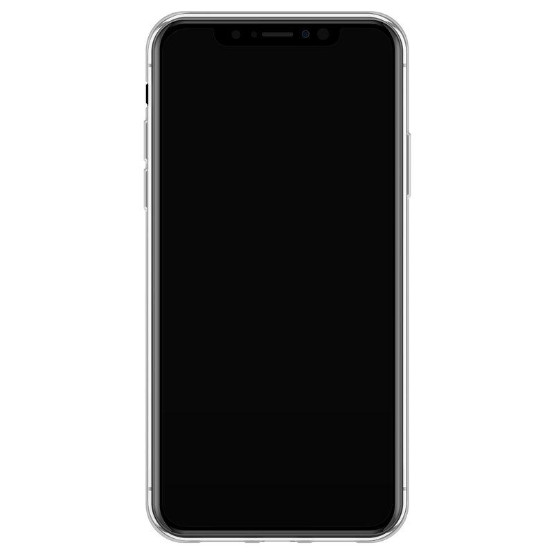 Casimoda iPhone XS Max siliconen hoesje - Luipaard grijs
