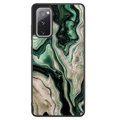 Casimoda Samsung Galaxy S20 FE hoesje - Green waves
