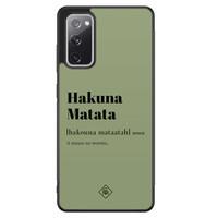 Casimoda Samsung Galaxy S20 FE hoesje - Hakuna Matata