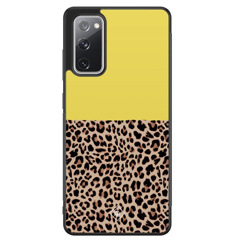 Casimoda Samsung Galaxy S20 FE hoesje - Luipaard geel