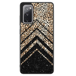 Casimoda Samsung Galaxy S20 FE hoesje - Chevron luipaard