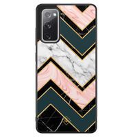 Casimoda Samsung Galaxy S20 FE hoesje - Marmer triangles