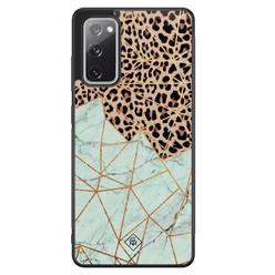 Casimoda Samsung Galaxy S20 FE hoesje - Luipaard marmer mint
