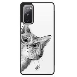 Casimoda Samsung Galaxy S20 FE hoesje - Peekaboo kat