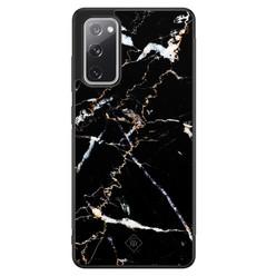 Casimoda Samsung Galaxy S20 FE hoesje - Marmer zwart