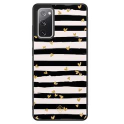 Casimoda Samsung Galaxy S20 FE hoesje - Hart streepjes