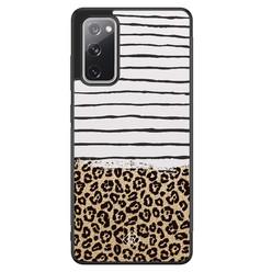 Casimoda Samsung Galaxy S20 FE hoesje - Leopard lines