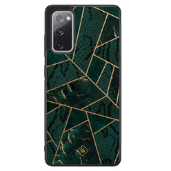 Casimoda Samsung Galaxy S20 FE hoesje - Abstract groen