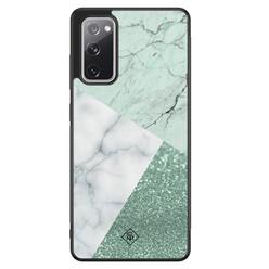 Casimoda Samsung Galaxy S20 FE hoesje - Minty marmer collage