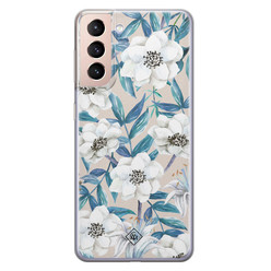 Casimoda Samsung Galaxy S21 siliconen hoesje - Touch of flowers