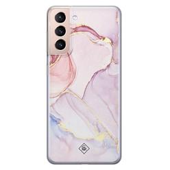 Casimoda Samsung Galaxy S21 siliconen hoesje - Purple sky