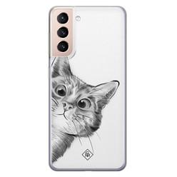 Casimoda Samsung Galaxy S21 siliconen hoesje - Peekaboo