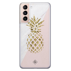 Casimoda Samsung Galaxy S21 siliconen hoesje - Ananas