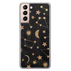 Casimoda Samsung Galaxy S21 siliconen hoesje - Counting the stars