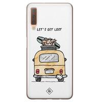 Casimoda Samsung Galaxy A7 2018 siliconen hoesje - Let's get lost