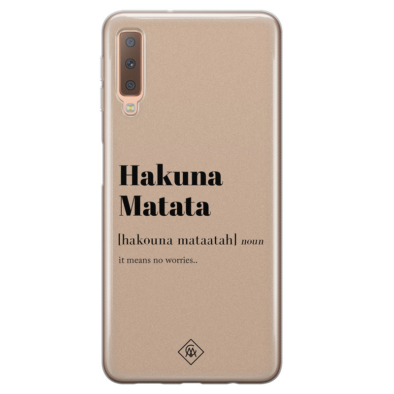 Casimoda Samsung Galaxy A7 2018 siliconen hoesje - Hakuna matata