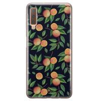Casimoda Samsung Galaxy A7 2018 siliconen hoesje - Orange lemonade