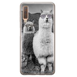 Casimoda Samsung Galaxy A7 2018 siliconen hoesje - Llama hipster