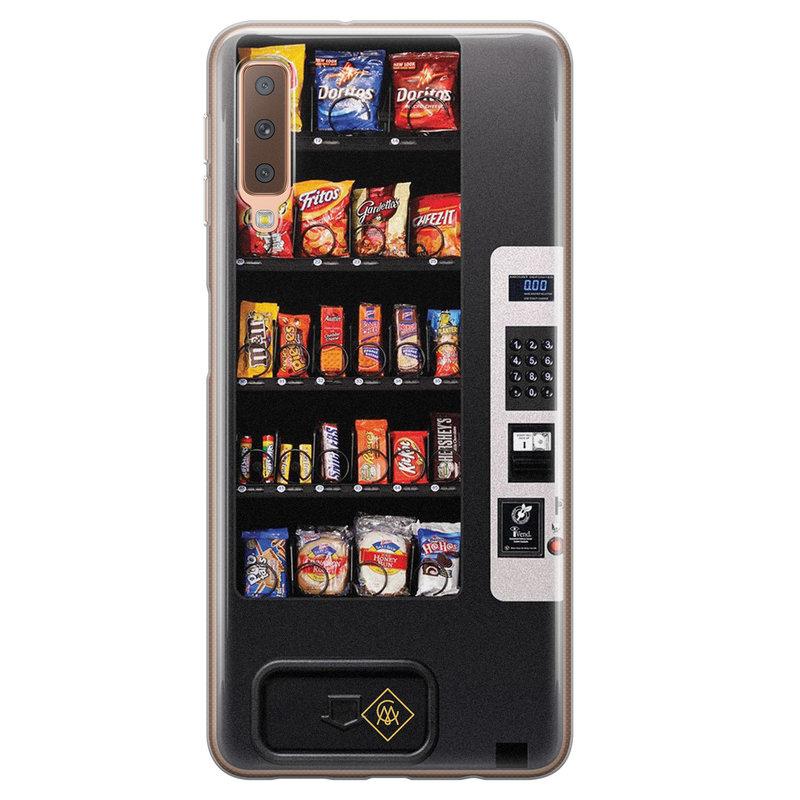Casimoda Samsung Galaxy A7 2018 siliconen hoesje - Snoepautomaat