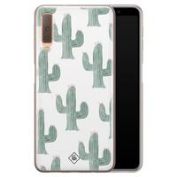 Casimoda Samsung Galaxy A7 2018 siliconen telefoonhoesje - Cactus print