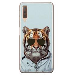 Casimoda Samsung Galaxy A7 2018 siliconen hoesje - Tijger wild